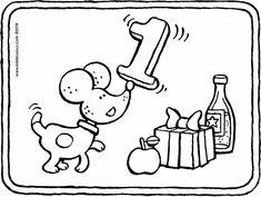 un bonito primer cumpleaños - dibujo - dibujo para colorear - lámina para colorear Happy First Birthday, First Birthdays, Birthday Coloring Pages, Make A Snowman, Play Shop, Winter Pictures, Animal Birthday, Pictures To Draw, Craft Activities
