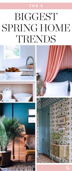 Spring's 5 Biggest Home Trends  #purewow #decor #trends #home