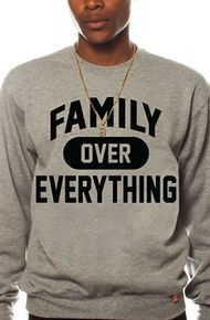 Breezy Excursion Family Over Everything Grey Crew