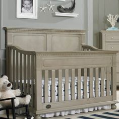 Naples Full Panel Convertible Crib In Choice of Finish from PoshTots