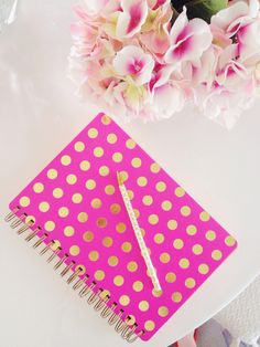 pink notebook, the only way to go!
