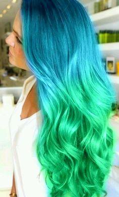 Sea colored hair