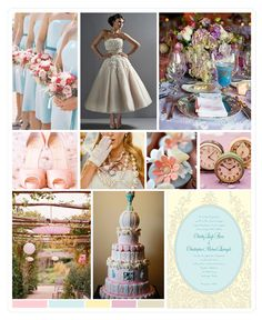 Overall ideas for Alice in Wonderland wedding theme