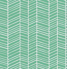 Herringbone in Turquoise/ True Colors by Joel Dewberry /  1/2 yard Cotton Quilt/Apparel Fabric