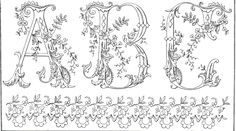 fancy monogram patterns for free!     http://www.antiquepatternlibrary.org/html/warm/B-YS025.htm