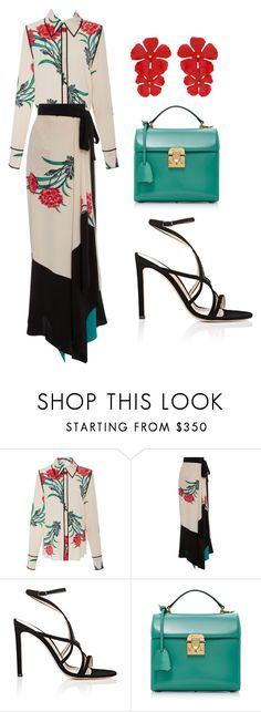"""Exotic"" by ale-pink5 ❤ liked on Polyvore featuring Diane Von Furstenberg, Gianvito Rossi, Mark Cross and Jennifer Behr"