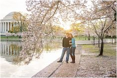 Washington, DC cherry blossom engagement session by Brooke Tyson Photography