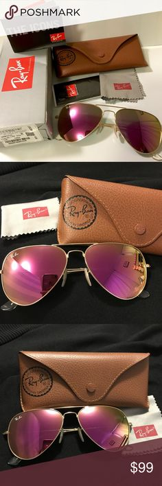 62cf238677d 100% Authentic Ray-Ban Aviator Flash Lenses 100% Authentic Ray-