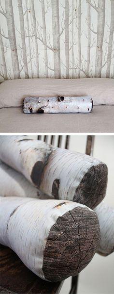 Bolster pillow that looks like a log!