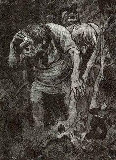 Theodor Kittelsen - Troll Hunt