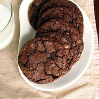 Chewy Double Dark Chocolate Cookies by Janna