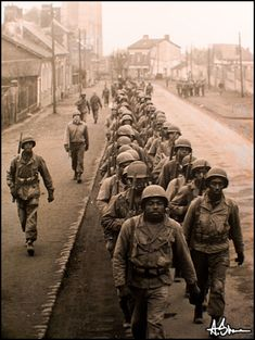 African American troops, World War Two (looks like Europe, but the photo is uncredited and untraceable, alas. rw)