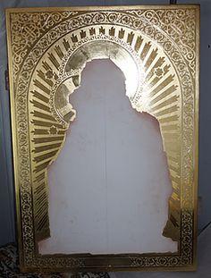 Catholic Art, Religious Art, Tin Foil Art, Art Icon, Sgraffito, Orthodox Icons, Caligraphy, Hand Engraving, Mosaic