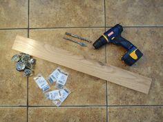 Glass Door Knob Coat Rack  : How to get screws into the doorknobs