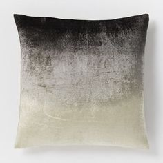 Ombre Velvet Pillow Cover - Slate | West Elm