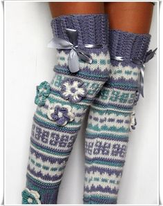 Valentine gift ideas Wool Knee high Knee socks for by Elishadesign