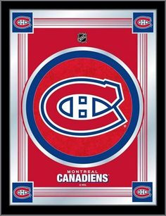 Montreal Canadiens Logo Mirror Wall Art