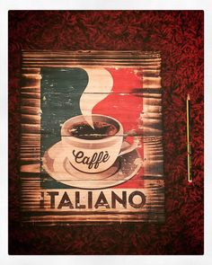 Excited to share this item from my shop: Italiano coffee caffè wall decor man cave art for cafe coffee shop tea room brew italy italian sign Man Cave Wall Decor, Man Cave Art, Wall Art Decor, Italy Coffee, Coffee Coffee, Coffee Break, Coffee Shop Signage, Rustic Italian, Wooden Decor