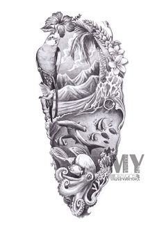 This would be an awesome tattoo, I would change a few things to make it my own
