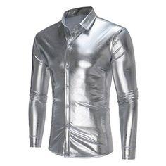 548804317a1 Shiny Shirt Men 2017 Brand New Night Club Men Shirt Long Sleeve Slim Fit  Male Shirts Casual Button Down Mens Dress Shirts Camisa