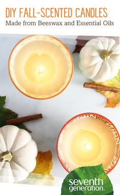 As stores line their aisles with fall-inspired décor, it's sometimes easy to get lost in the excitement and want to reach for those pumpkin, apple and cinnamon-scented candles. More often than not, the candles are scented using synthetic fragrances – fragrances you don't need filling your home. We prefer real botanical scents, like we use in our cleaning products! You can capture the scents of fall naturally by using beeswax and essential oils to make your own candles at home.