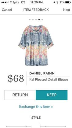 Daniel Rainn Gal Pleated Detail Blouse. I love Stitch Fix! A personalized styling service and it's amazing!! Simply fill out a style profile with sizing and preferences. Then your very own stylist selects 5 pieces to send to you to try out at home. Keep what you love and return what you don't. Only a $20 fee which is also applied to anything you keep. Plus, if you keep all 5 pieces you get 25% off! Free shipping both ways. Schedule your first fix using the link below! #stitchfix @stitchfix…