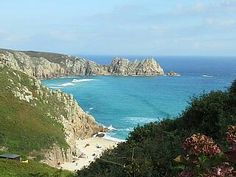 Porthcurno Bay from the fabulous Minack Open Air Theatre