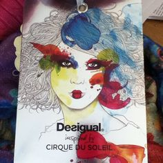 A beautiful fashion illustration by Desigual (Cirque du Soleil) via my instagram @oceanprincess