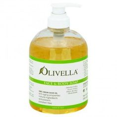 Olivella Virgin Olive Oil Face and Body Liquid Soap 16.9 oz, Clear