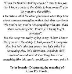 man I just love Tyler Joseph can Tyler Joseph just get all the awards I mean I think a Nobel peace prize is even necessary I mean can you guys even imagine the number of lives he's saved enough for a damn peace prize