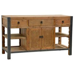 Let the Jaden Kitchen Island add a small dash of rustic styling and heaping serving of functionality to your kitchen.