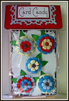 Handmade Embellishments / Card Candy for Cards or Scrapbooking Projects - Flowers Set 2