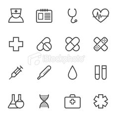 Medical icons set Royalty Free Stock Vector Art Illustration