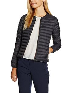 Ecoalf Usuahia Light Jacket Woman, Chaqueta para Mujer, 319/Black, S