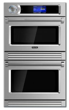 Viking 30 Inch Double Speed Electric Wall Oven with Cu. Total Capacity, 7 Speed Cook Modes, 10 Traditional Cook Modes, Convection Technology, and Halogen Lighting: Stainless Steel Microwave Hood, Electric Wall Oven, Electric Cooker, Viking Appliances, Kitchen Appliances, Kitchen Gadgets, Kitchens, New Oven, Oven Canning
