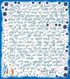 Hopefully I will never need this one...Little letter from the Tooth Fairy saying sorry she forgot to pick up a tooth...free printable letters