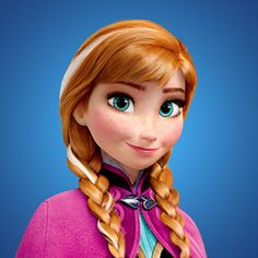 Anna from the Disney movie Frozen. Order Anna inspired nail wraps at www.stevieduvall.jamberrynails.net