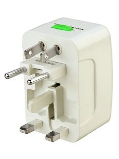 Converts power outlet when traveling to other countries. Includes a travel pouch for easy storage. LED charging indicator. Color: white. Works worldwide: United States, Canada, Europe, Middle East, South America, Asia, The Caribbean, Great Britain, Ireland, Africa, Hong Kong, Singapore, Australia, Fiji, New Zealand, China, Japan, and more than 150 countries