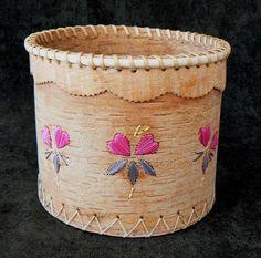 Birch Bark Basket Artist: Adele Klondike Medium: Birch Bark & Porquipine Quill