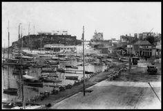 Μικρολίμανο (Τουρκολίμανο), 1938. Old Photos, Vintage Photos, Old City, East Coast, Old Town, Athens, Paris Skyline, Greece, The Past