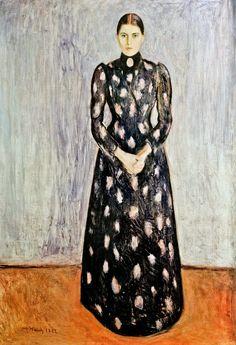 Edvard  Munch           Inger in Black and Violet (1892)
