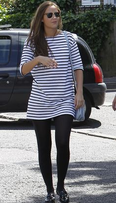 Work time: Jacqueline Jossa certainly lived up to that description on Monday as she was se...