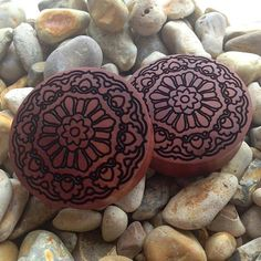 Who loves Mandalas?  Check out our awesome Saba wood mandala plugs available up to 90mm!  Treat yourself at www.ukcustomplugs.co.uk #plug #p...