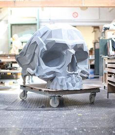 Is this not the coolest #chair ever?  The #Skull Chair designed by @har0w \\\ Photo by @stefan_sn by designmilk