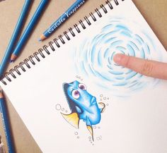 """""""""""I wanna touch it!"""" Dory! One of my favorite character of the movie 'Finding Nemo""""... What's your favorite Disney character?❤️"""""""