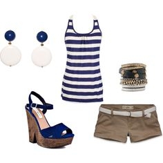 Navy and white stripes,