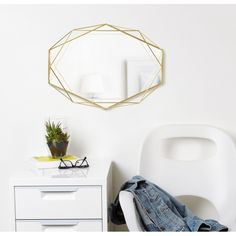 Discover our exclusive collection of unique and unusual decorative mirrors at Hurn and Hurn, with a choice of styles and colourways to suit many homes. Pink Mirror, Wall Mirror, Mirrors, Floating Nightstand, Brass, Furniture, Living Room, Home Decor, Floating Headboard