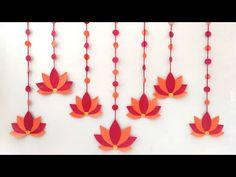 Housewarming Decorations, Diy Diwali Decorations, Backdrop Decorations, Paper Decorations, Flower Decorations, Background Decoration, Eco Friendly Ganpati Decoration, Ganpati Decoration At Home, Diwali Diy
