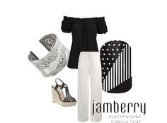 ## black, white,monochromatic, style, dressy, shoes, fashion,jewelry, jamberry, heels, party, polka dot, stripes