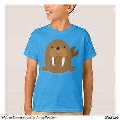 Walrus Illustration T-Shirt Nov 28 2016 @zazzle #junkydotcom